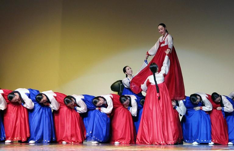 Ganggangsullae, a traditional dance of the Joseon Dynasty