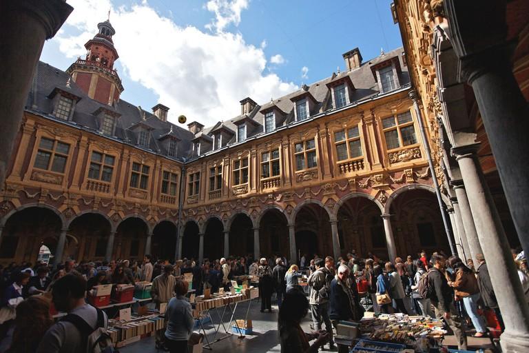 Book market at the Vieille Bourse