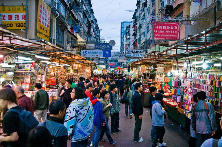 Hong Kong's famous Ladies' Market is the most popular attraction in the entire city.