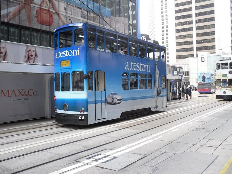 The British introduced trams to Hong Kong in 1904. They remain popular today.