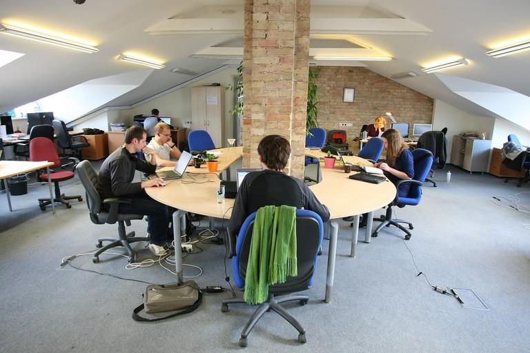 A coworking hub in Vilnius