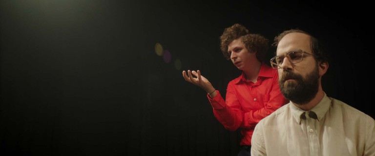 Alex (Michael Cera) and Isaac (Brett Gelman) in Lemon
