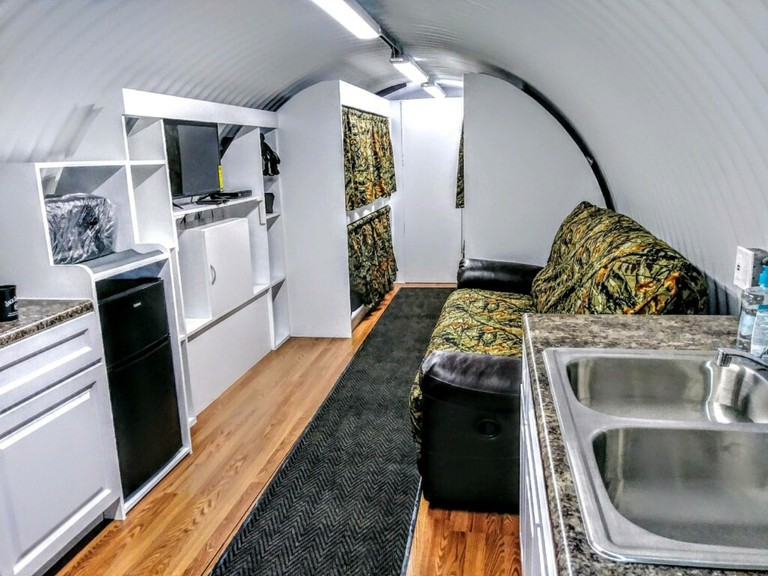Interior of underground nuclear bunker