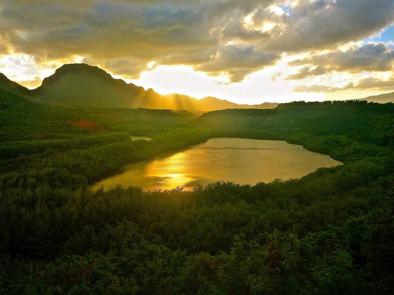 Alekoko Pond in Kauaʻi, believed to be built by the menehune