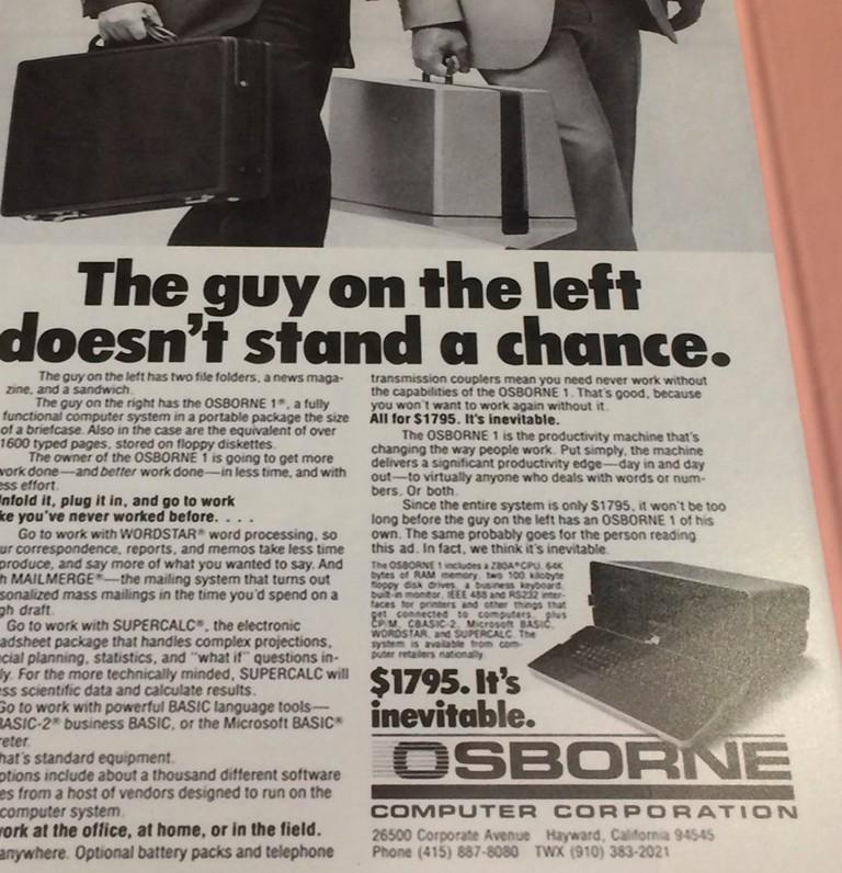 Advert for Osborne 1