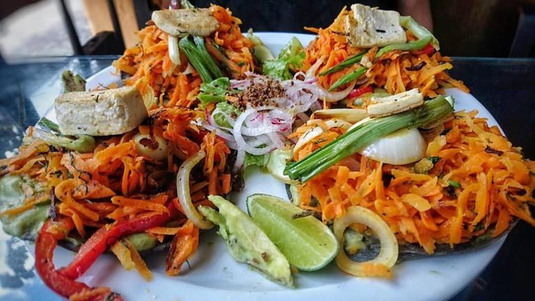 Vegetarian tacos, Antigua Guatemala