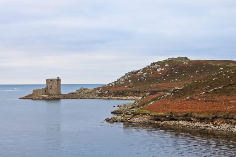 Castle ruins on Tresco, Isles of Scilly