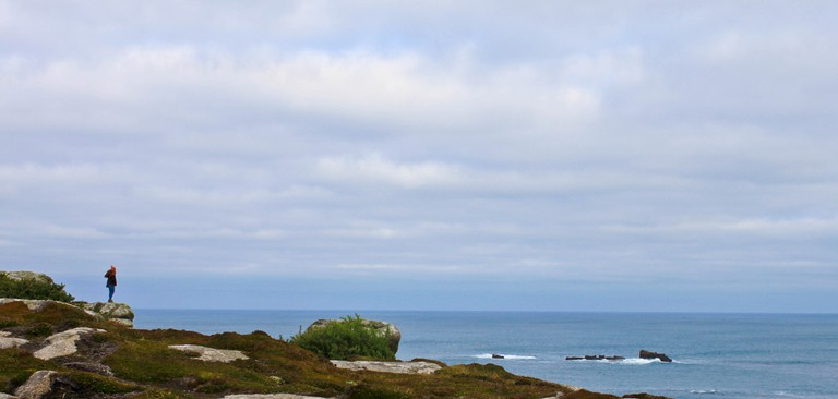 Standing at the edge of the world on Bryher, Isles of Scilly
