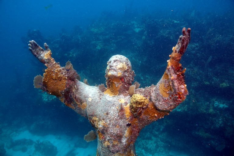 Christ of the Abyss at the John Pennekamp Coral Reef State Park