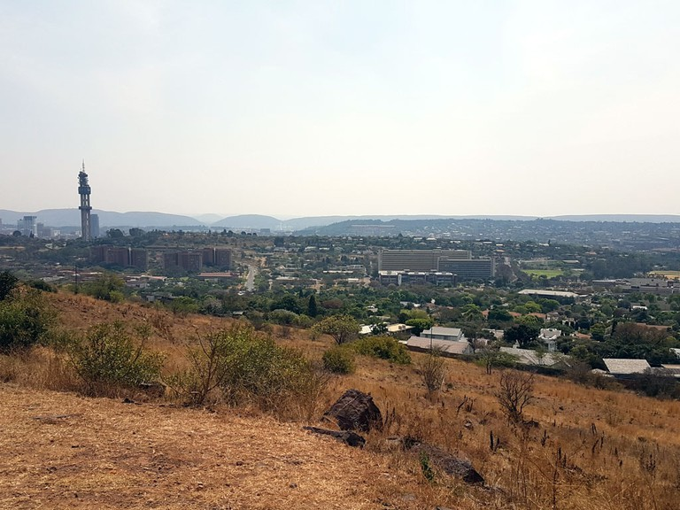 View from the top of Johann Rissik Drive