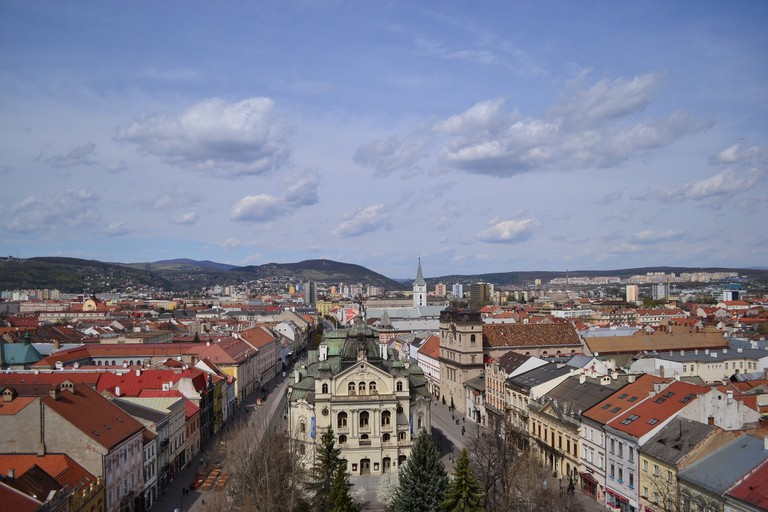 Navigate the streets of the Old Town and the suburbs of Bratislava's second largest city, Kosice.