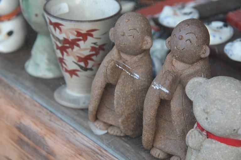 Jizo statues and ceramics