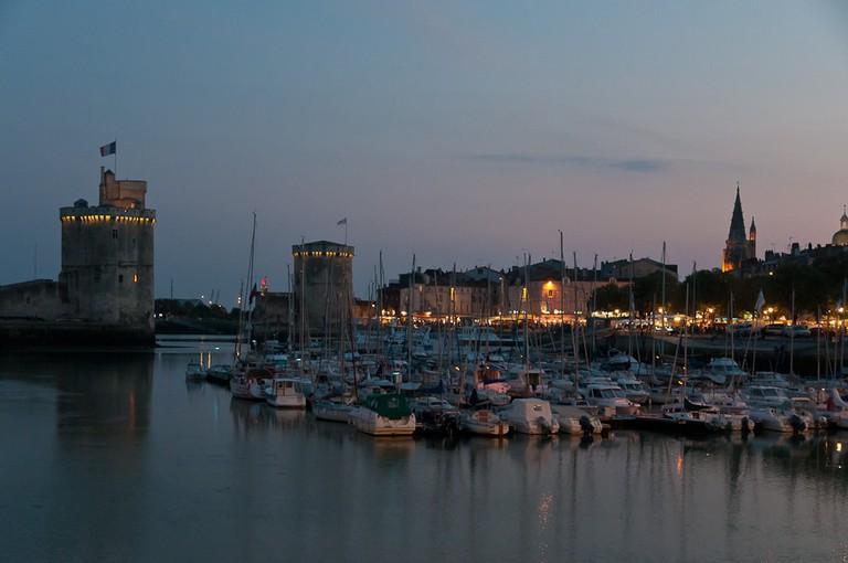 The port entrance at La Rochelle.