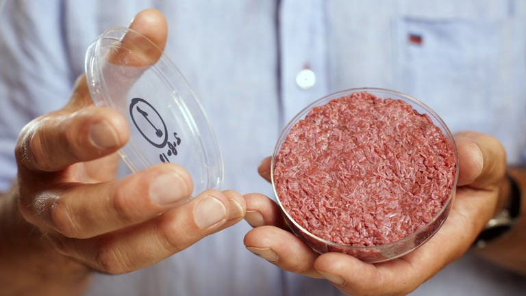 The world's first lab-grown burger was introduced in 2013.