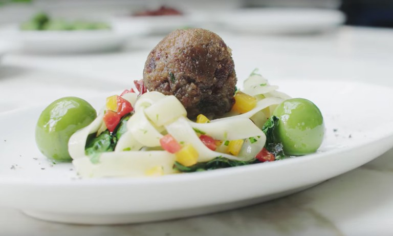 The world's first lab-grown meatball by Memphis Meats