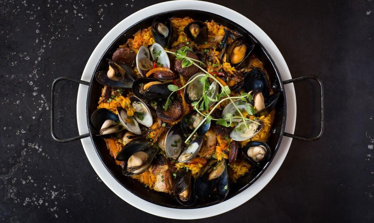 Seafood Paella at Local 188