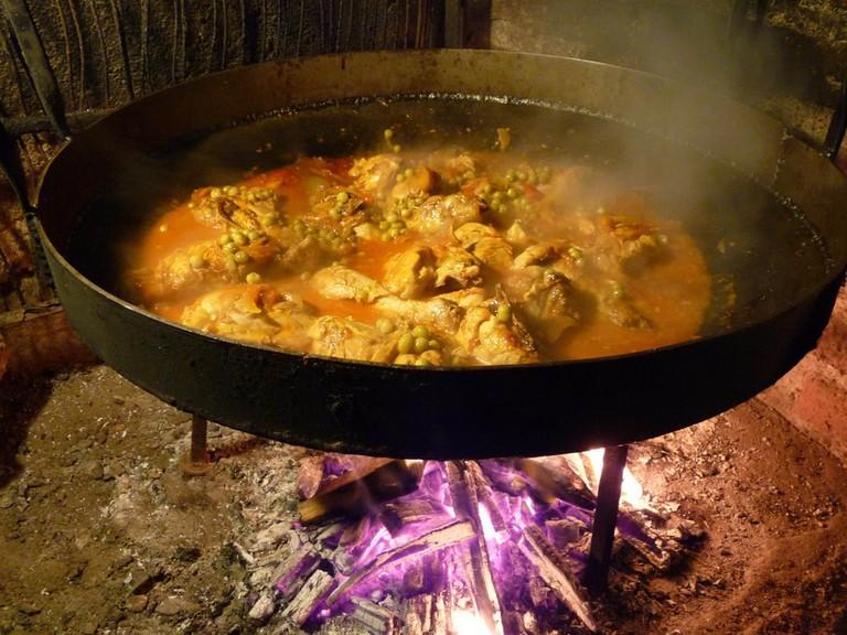 """A traditional """"pollo al disco"""""""