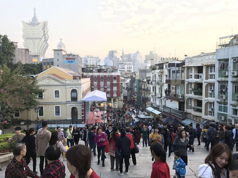 Today, ethnic Macanese are in the minority in Macau where its population of 600,000 is about 95% Chinese