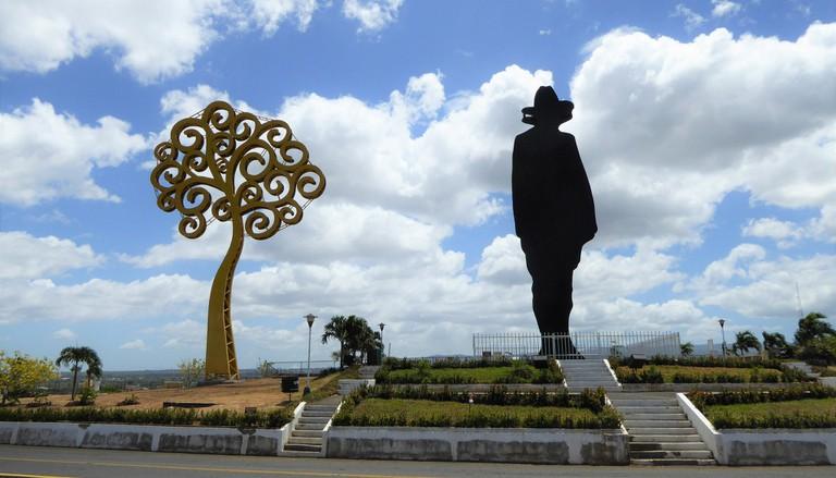 Sandino dominates the Managua skyline