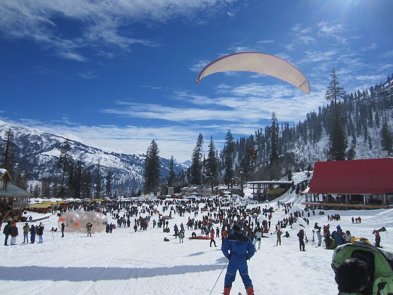 Zorbing and Paragliding in Manali