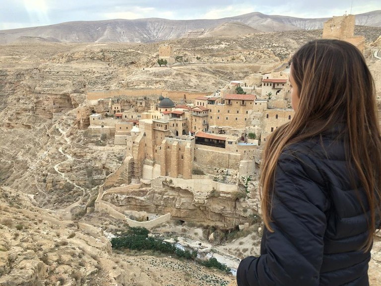 View of Mar Saba, an ancient monastery in Israel's Judean Desert