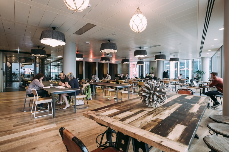 London's WeWork South Bank Lounge