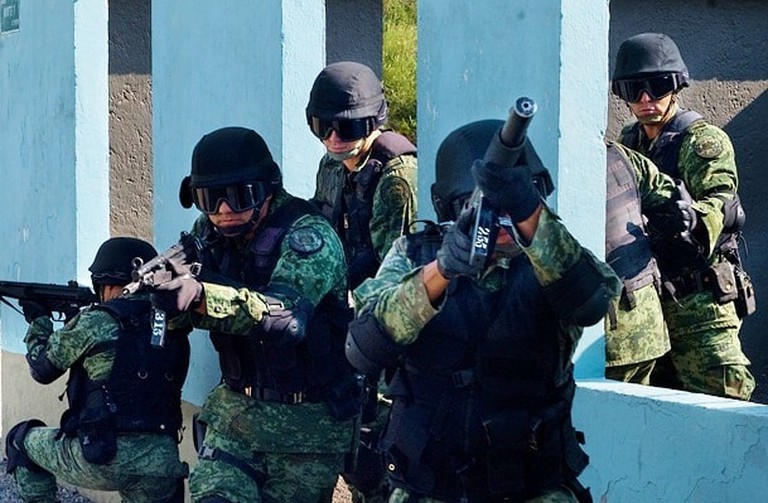 Mexican army drill