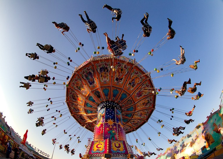 The Oktoberfest carousel