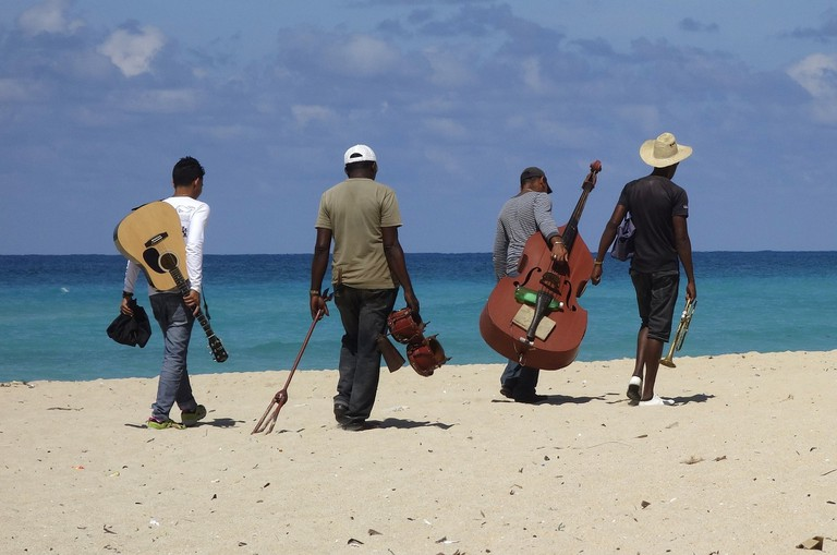Musicians on the beach