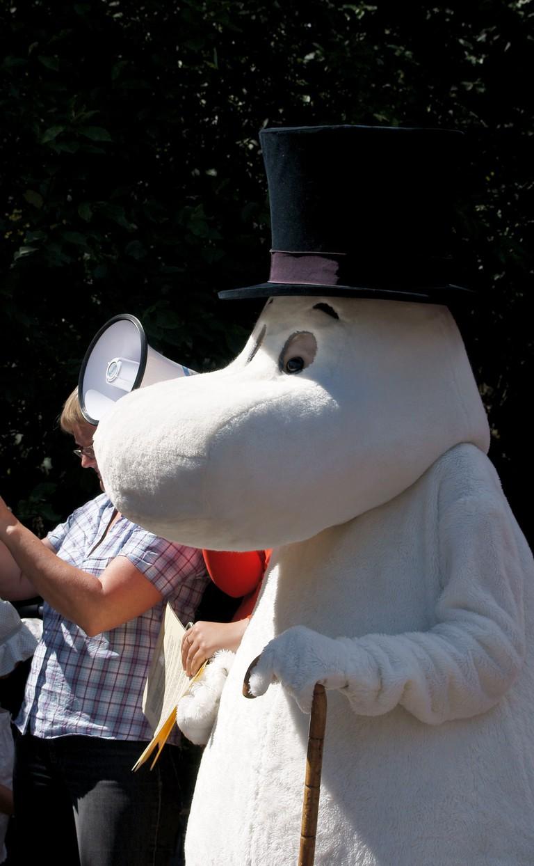 Costume character at Moominworld