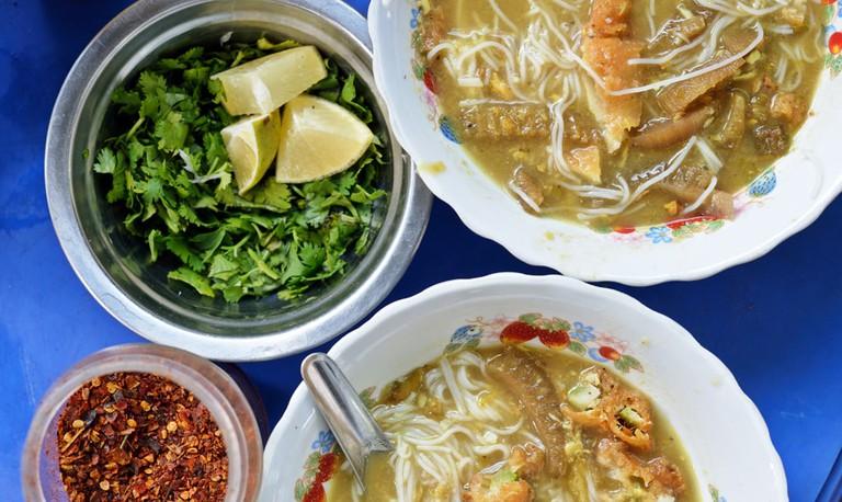 Myanmar mohingya traditionally served for breakfast