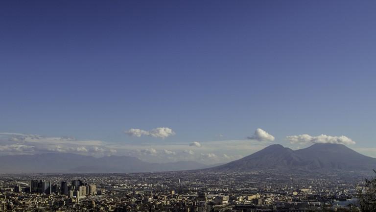 Mount Vesuvius overlooking Naples