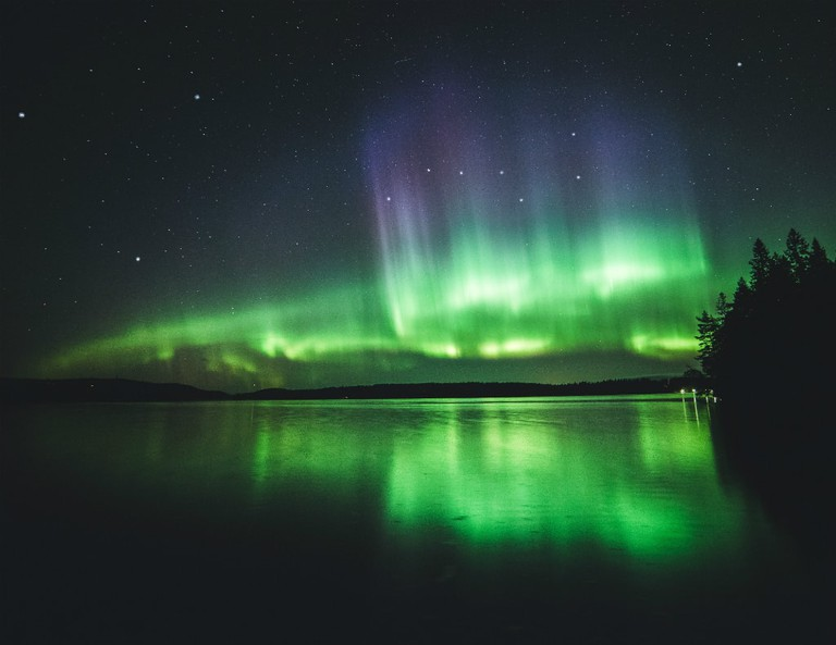 Northern Lights Over Kuopio, Finland