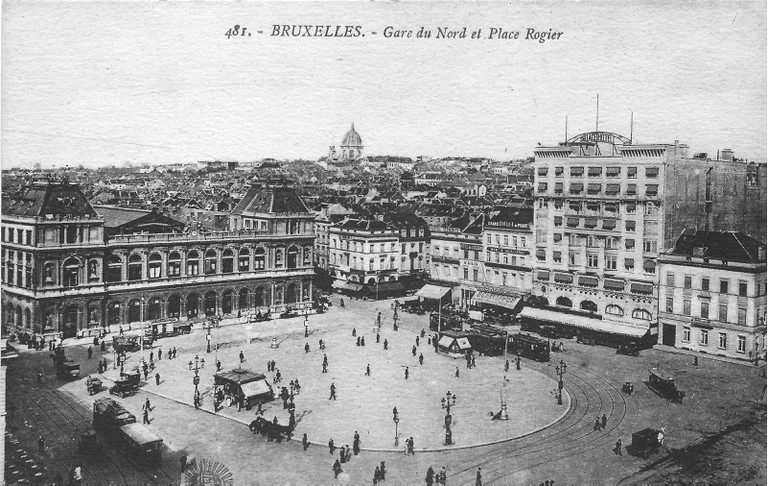 North Station and Place Rogier c.1910 | public domain / Wikimedia Commons