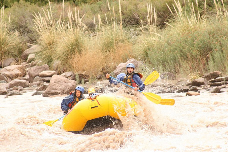 Brave the rapids on the Mendoza river
