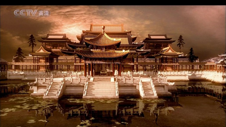The 3D technology was used to restore the past glory of the Old Summer Palace. Screen grab of the 2006 documentary Yuanming Yuan