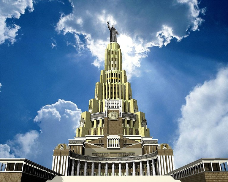 Artists impression of Palace of Soviets