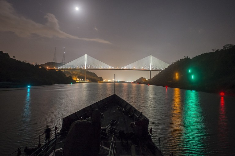 Panama Canal by night I