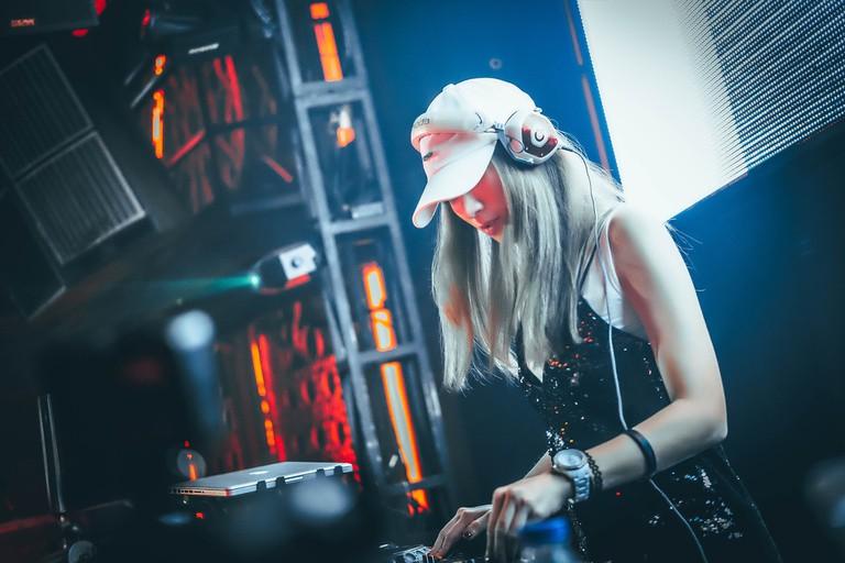 Female DJs are also represented in the Havana scene