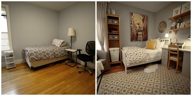Before & After: Mother-in-law Suite Refresh Makeover: While in San Francisco, the IKEA Home Tour Squad helped German and his wife, Cynthia, transform their bare-bones guest room into a mother-in-law-suite oasis for German's mother, Betti, who was moving to the U.S. from Germany.