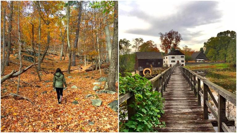 (Left) Bear Mountain State Park, (Right) Sleepy Hollow |© Nikki Vargas