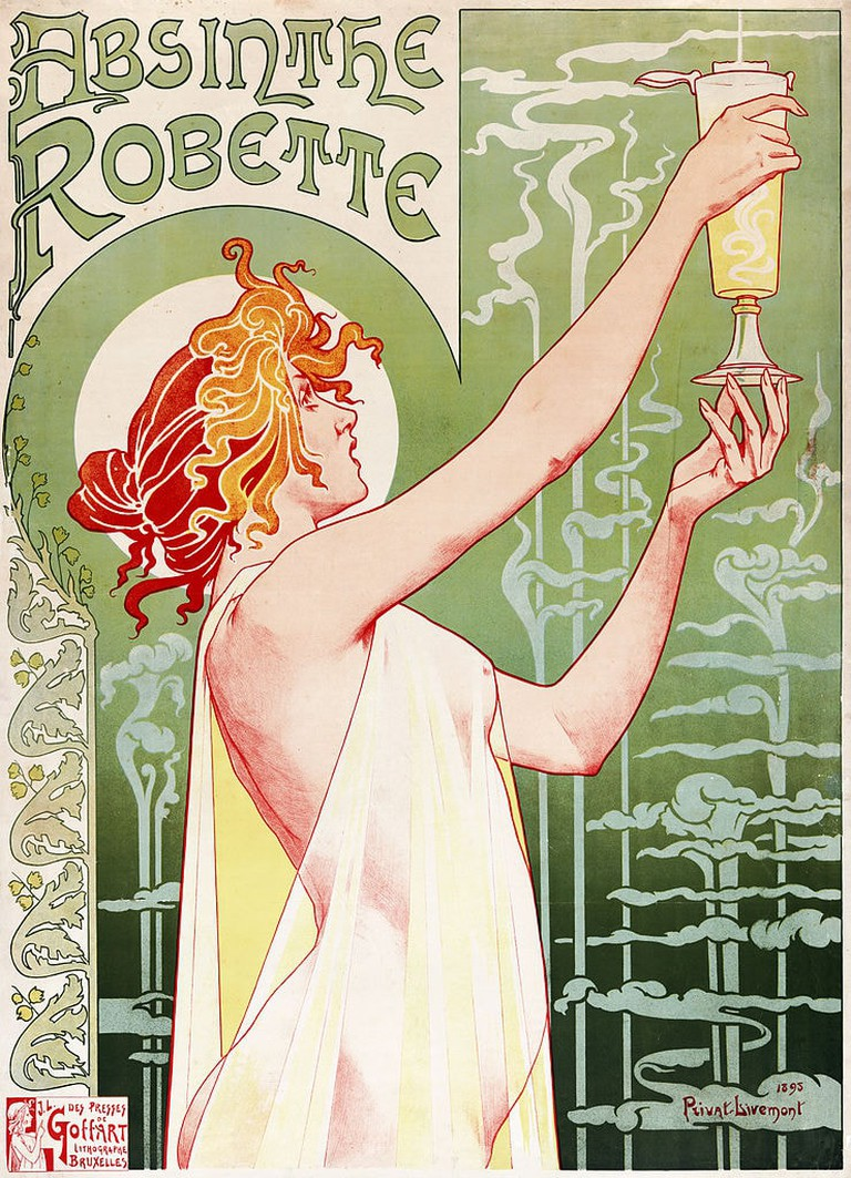 Henri Privat-Livemont, 'Absinthe Robette', 1896 | Wiki Commons