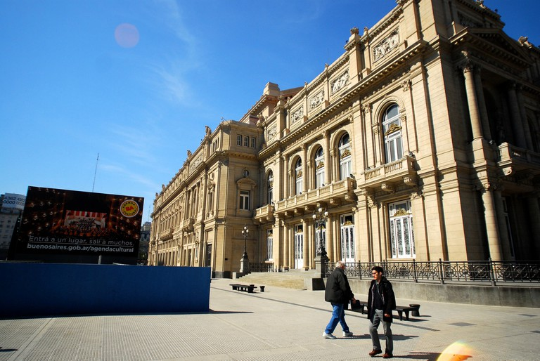 Check out a movie beside the Teatro Colon