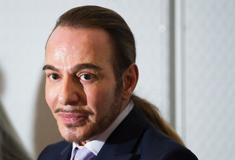 Photo by Blake Ezra Photography/REX/Shutterstock (4796828q) John Galliano, appearing at a Jewish community event 'Connect' fashion event at the offices of BDO, London, Britain - 28 May 2015