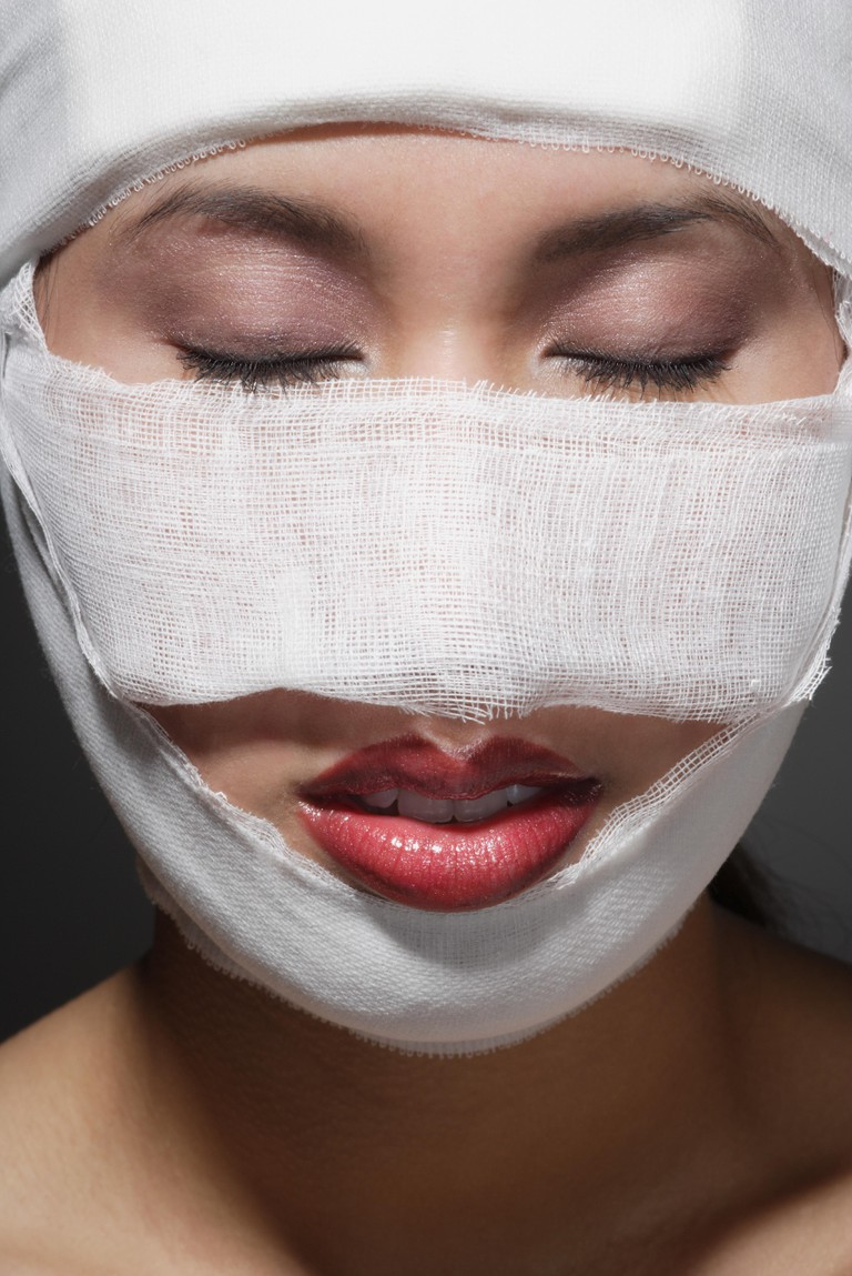 Mandatory Credit: Photo by Darren Greenwood/Design Pics Inc./REX/Shutterstock (750914a) Woman after surgery VARIOUS