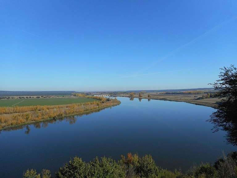 The Duero river in Castilla y Leon. Photo