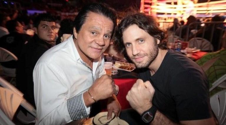 Roberto Durán and actor Edgar Ramirez