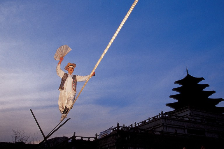 Jultagi, traditional Korean tightrope walking