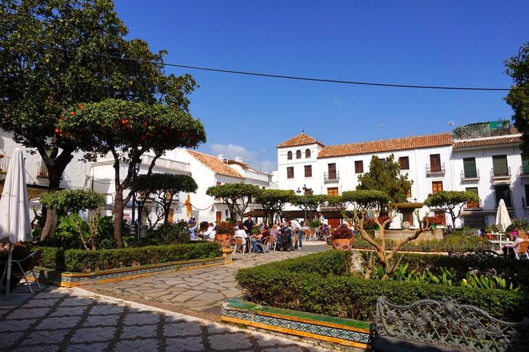 Plaza de las Flores in Estepona's old town; courtesy Encar Novillo