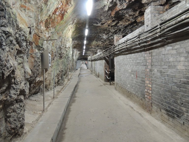A section of Gibraltar's WWII tunnels; courtesy www.visitgibraltar.gi